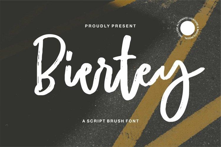 Web Font Biertey - A Script Brush Font example image 1