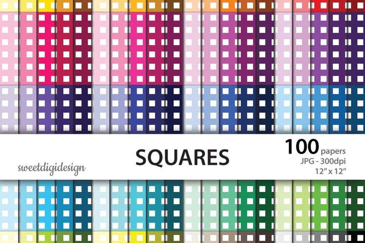 Tiny squares rainbow digital paper example image 1