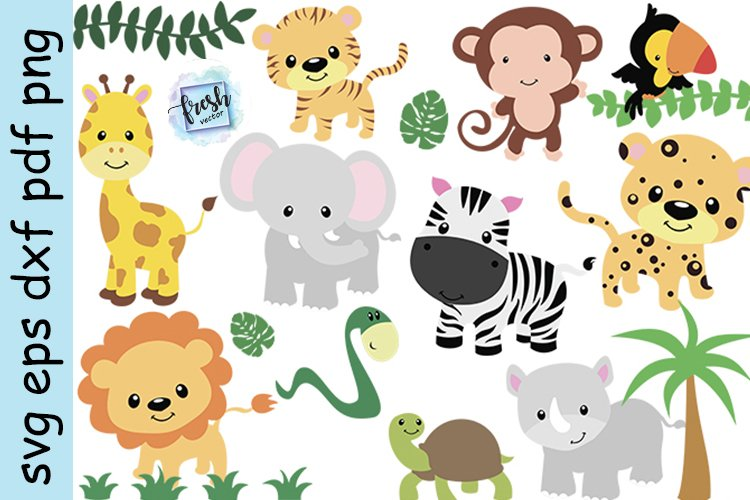 Safari Animals Svg Zoo Animal Clipart Jungle Animals