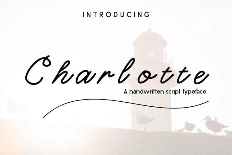 Charlotte Script Typeface example image 1