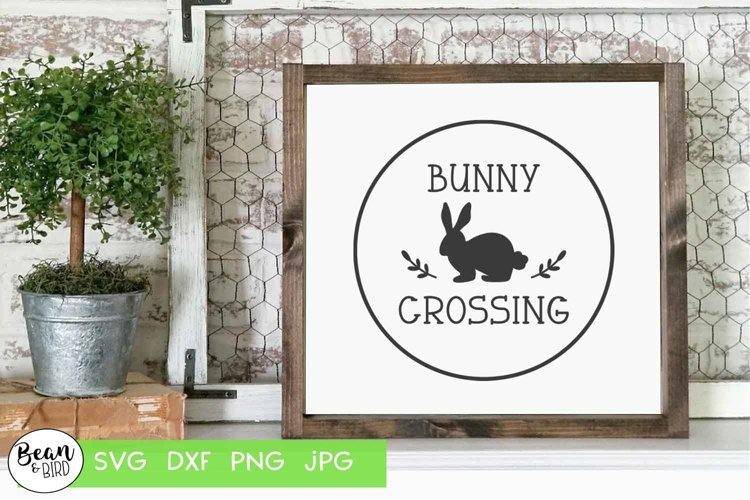 Bunny Crossing Easter SVG