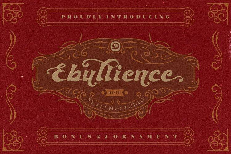 Ebullience font example image 1