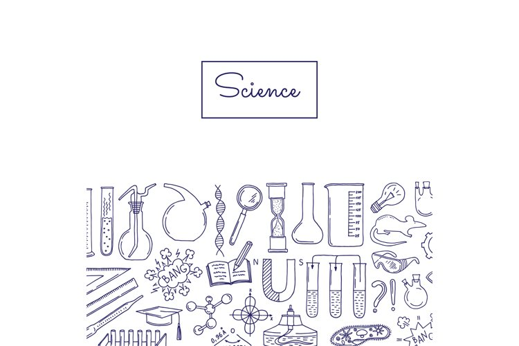 Vector science or chemistry elements background example image 1