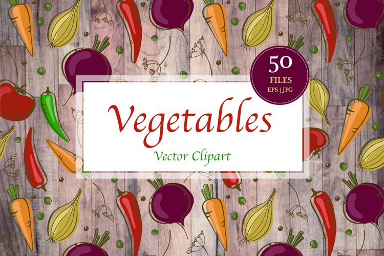 Vector Vegetables Clipart
