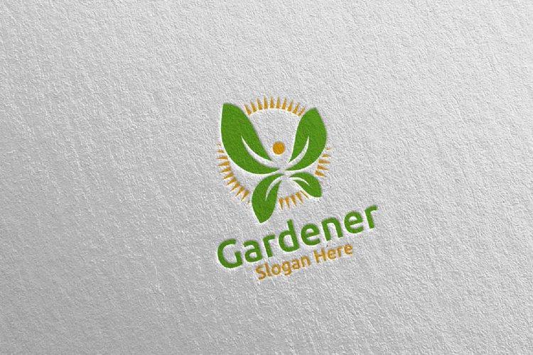 Herb Botanical Gardener Logo 2 example image 1