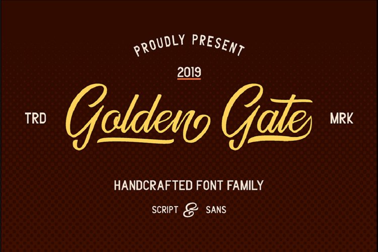 Golden Gate | Handcrafted Font Familyy example image 1