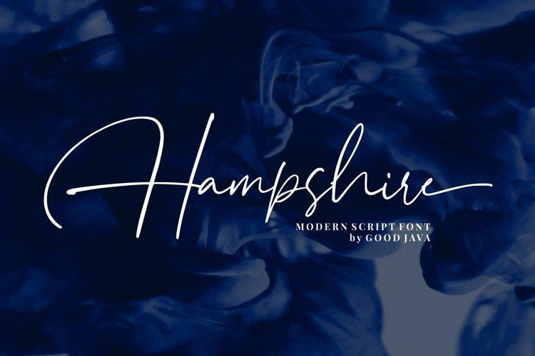 Hampshire - Modern Script Font example image 1