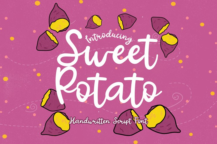 Sweet Potato - A Bouncy Handwritten Script Font example image 1