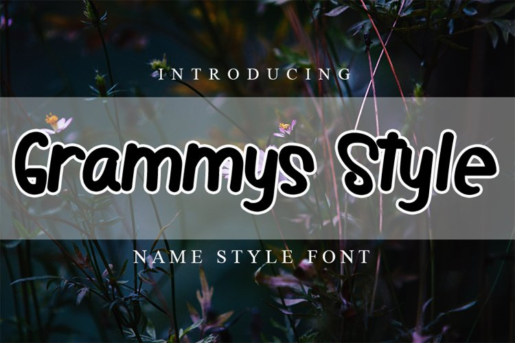 Grammys Style | Style Font example image 1