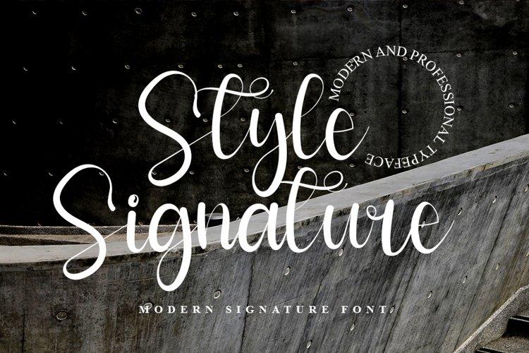 Style Signature - Modern Signature Font Web Font example image 1