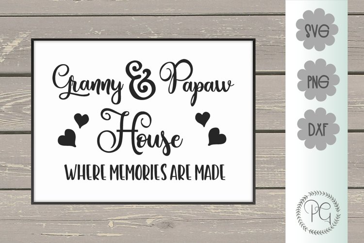 Granny and Papaw House SVG PNG DXF example image 1