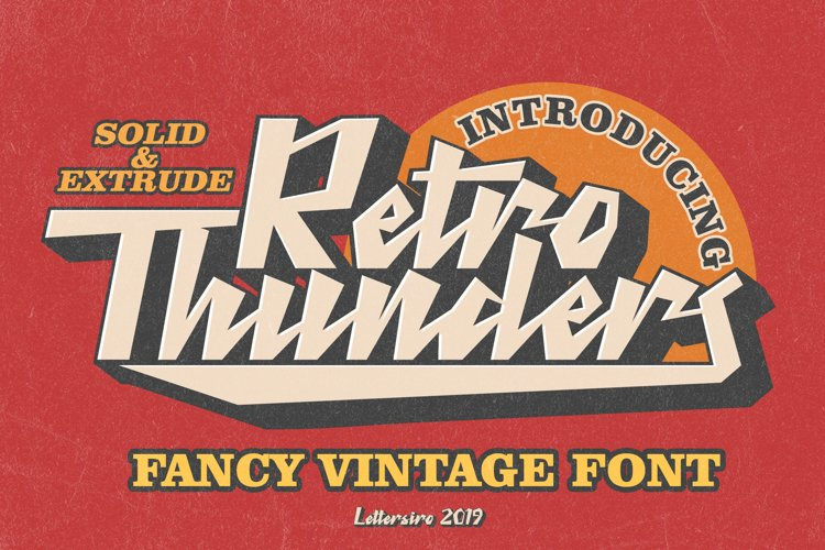 Retro Thunders - Retro Font example image 1