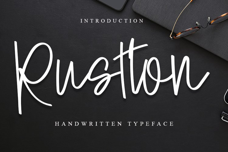Rustton |A Handwritten Font example image 1