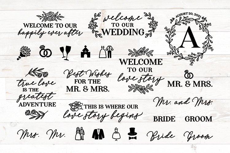 Wedding SVG bundle signs plus clipart example image 1
