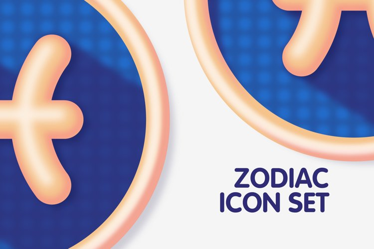 Colourful Zodiac Astrology Signs Icon Set example 2