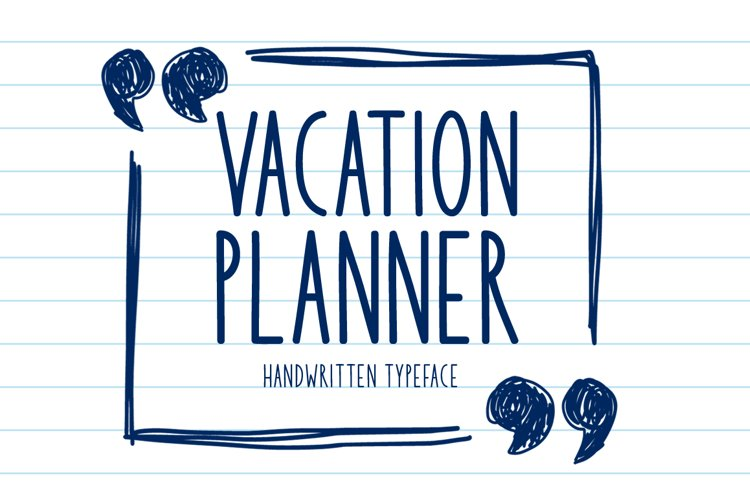 Vacation Planner example image 1