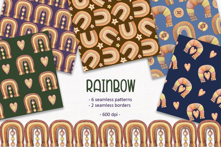 Rainbow Pattern Set example image 1