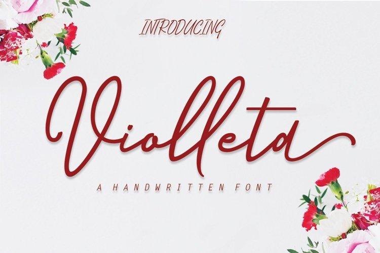 Web Font Violleta Script example image 1