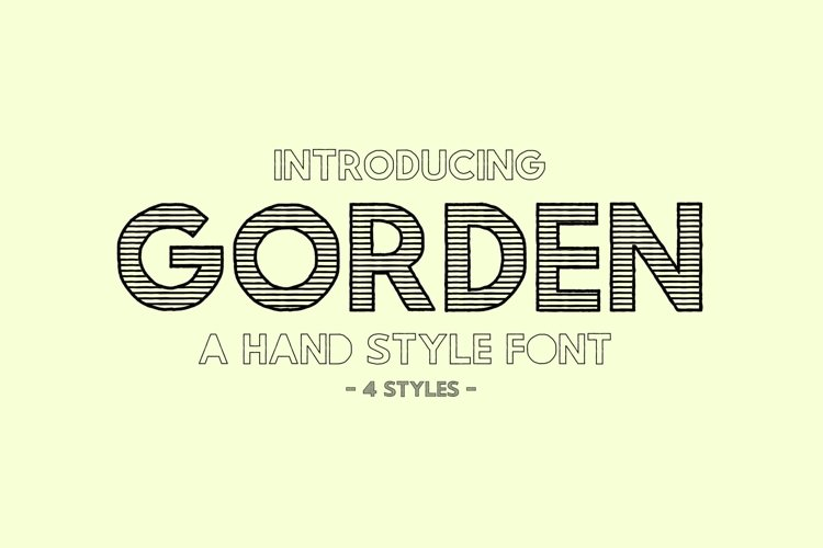 Gorden | A Hand Style Font example image 1