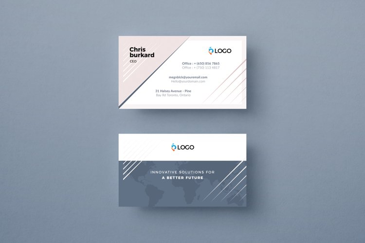 Corporate Business Card Template example image 1