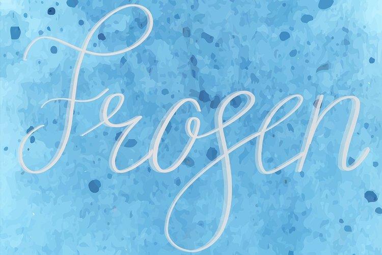 Procreate Lettering Brushes   Winter Pack Bonus example 3