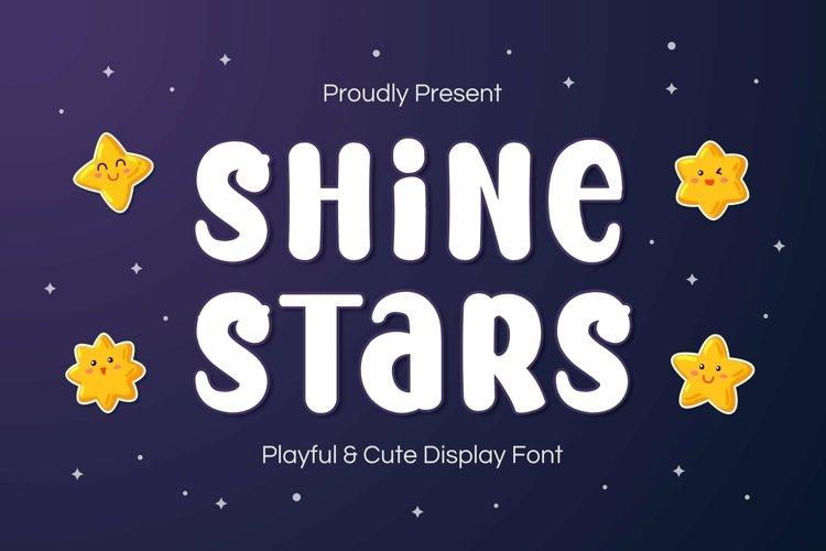 Web Font Shine Stars Font example image 1