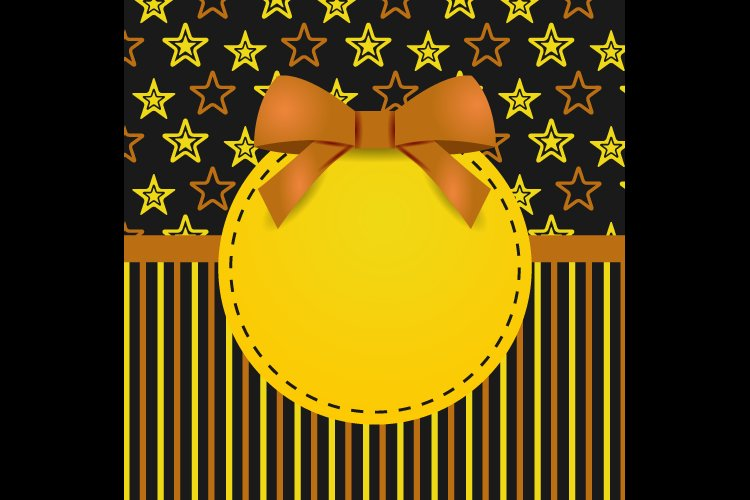 Greeting Card Template Design with Star Graphic example image 1