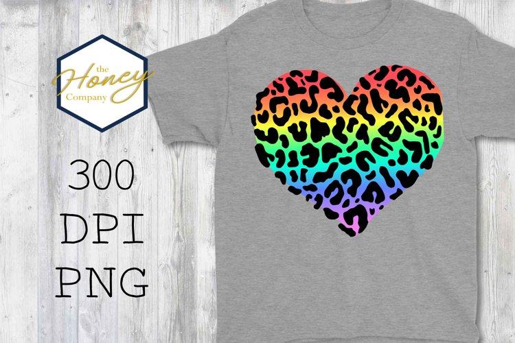 Rainbow Leopard Print Set Sublimation 300 DPI Clipart PNG