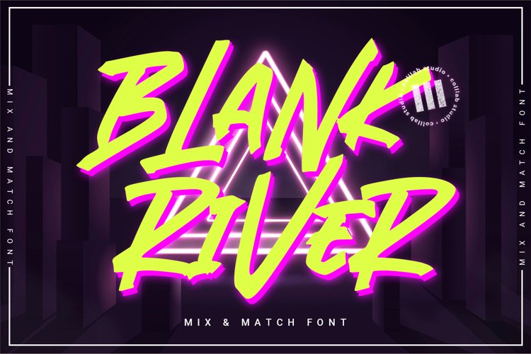 Blank River - A Mix 'N Match Font example image 1