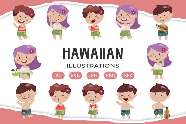 Hawaiian Luau illustrations example image 1
