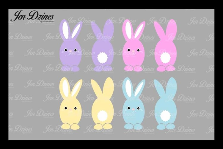 Easter Bunny Bundle SVG DXF EPS PNG example image 1
