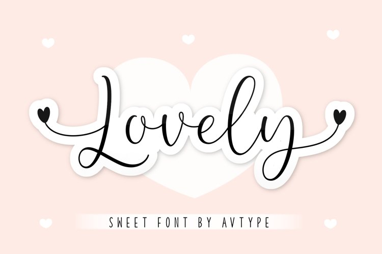 Lovely font example image 1