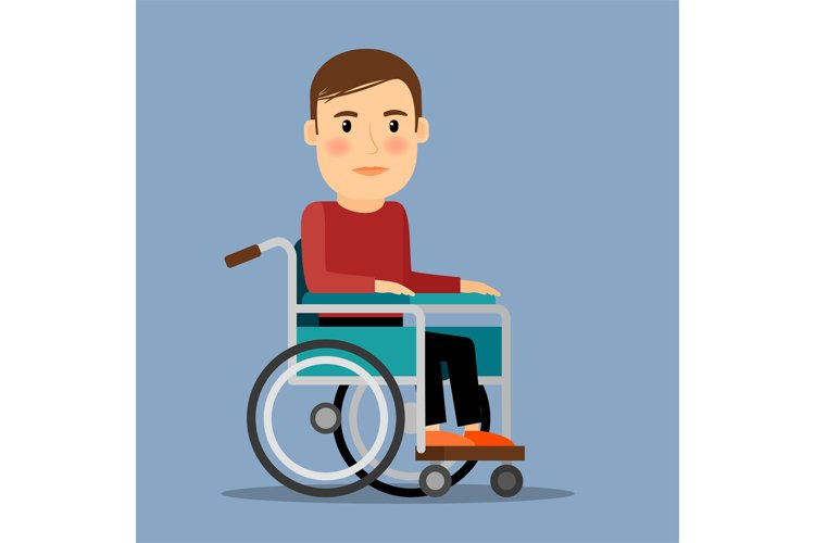 Disabled man in wheel chair example image 1