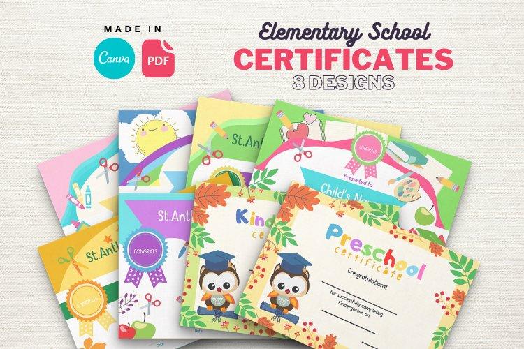 Elementary School Graduation Diploma Certificates example image 1