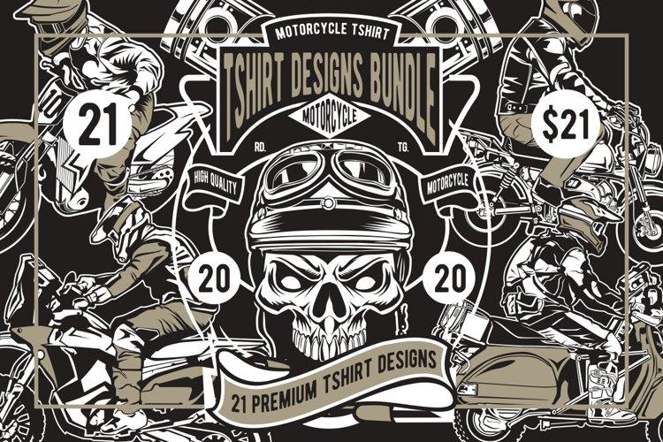 21 MotorcycleTshirt Designs Bundle
