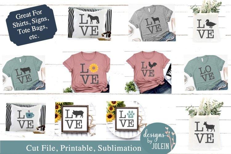 LOVE Bundle SVG, Sublimation, Printable example image 1