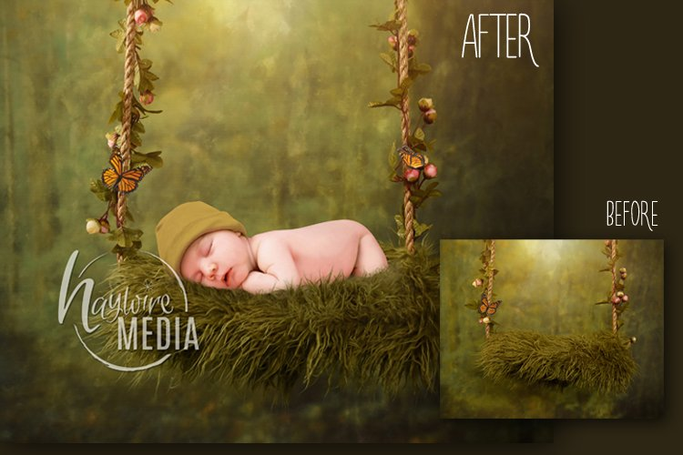 Fairy Swing Bed Baby Newborn Digital Backdrop Photography