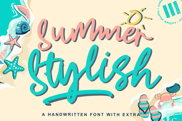 Summer Stylish - A Handwritten Font with Extra example image 1