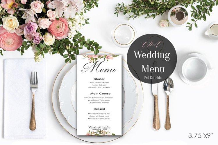 Vintage Wedding Menu Template | PSD Instant Download example image 1