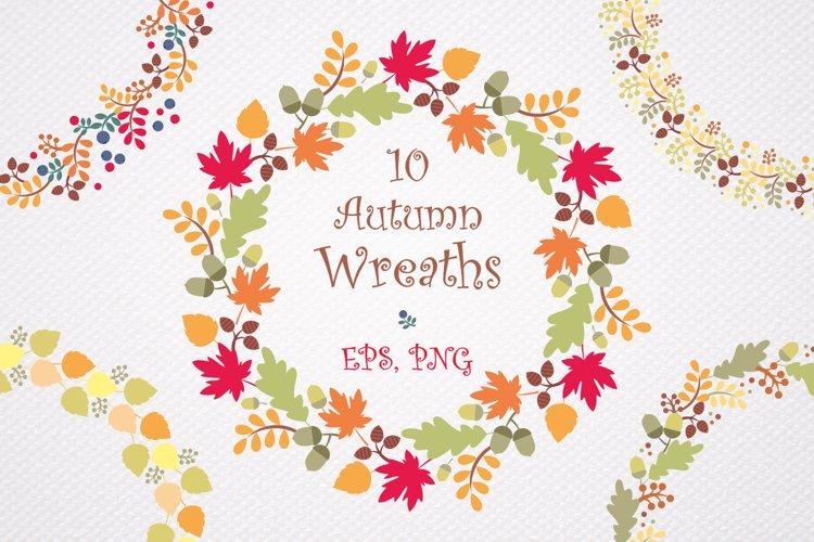 Autumn wreaths. Vector clip art.