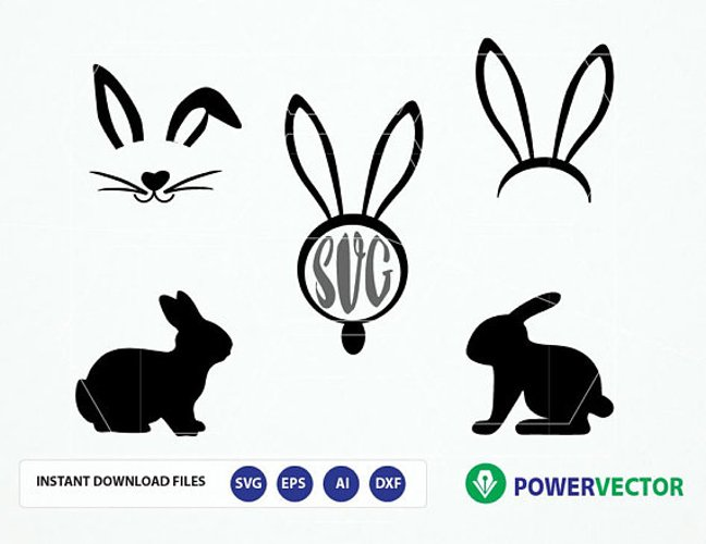 Easter SVG Svg Files for Cricut Silhouette Files Easter Bunny SVG