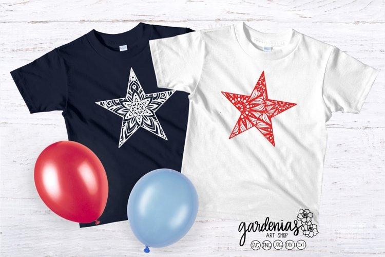 Star Mandalas SVG   Star Cut File   Star Clip Art   July 4th