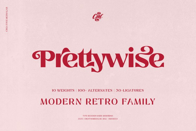 Prettywise Modern Retro Font example image 1