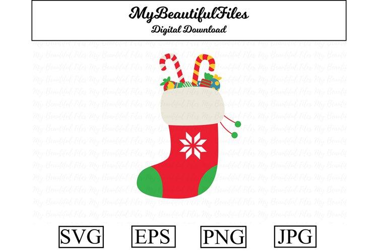 Christmas Stocking SVG - Cute Christmas SVG, EPS, PNG