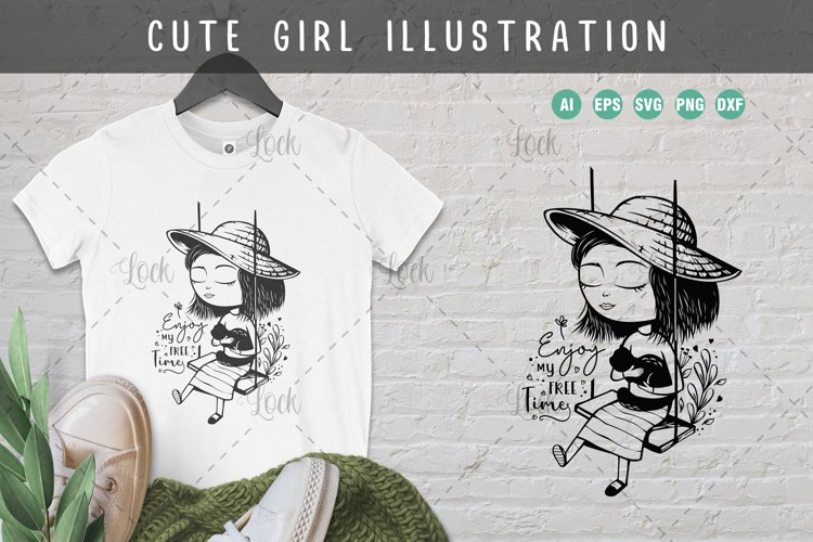 Cute Girl Illustration example image 1