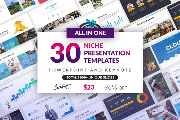 All In One 30 Presentation Template example image 1