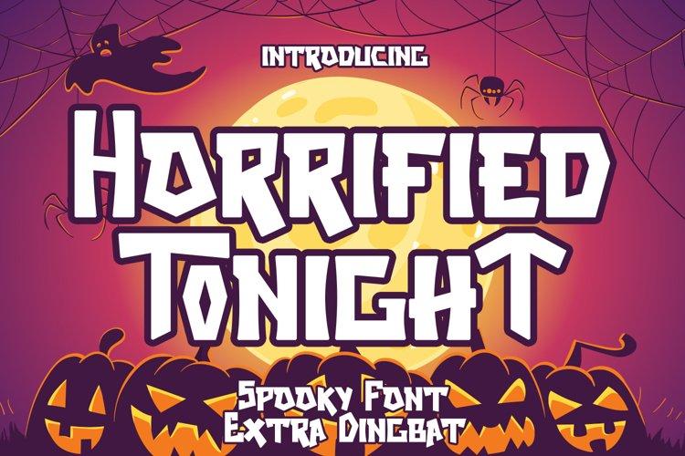Horrified Tonight - Halloween Font example image 1