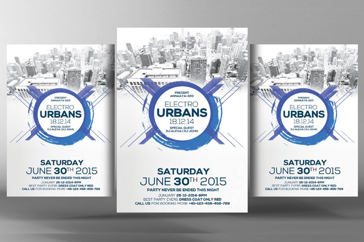 Electro Urban Party Flyer example image 1