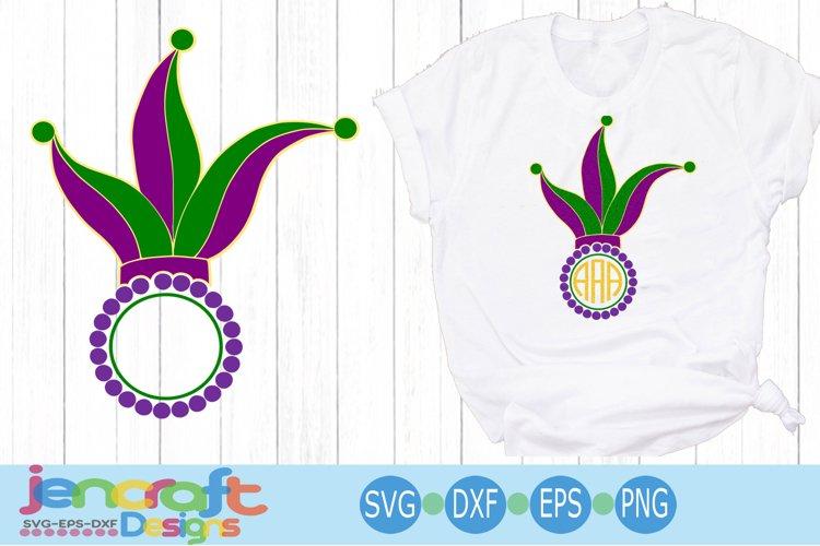 Mardi Gras King Hat Monogram Frame SVG Mardi Gras SVG