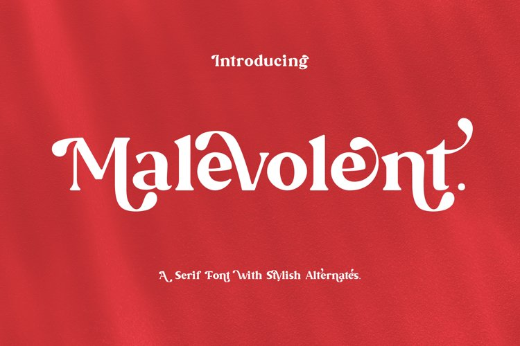 Malevolent - Serif Font example image 1